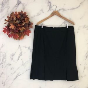 Talbots Pleated Hem Pencil Skirt in Black